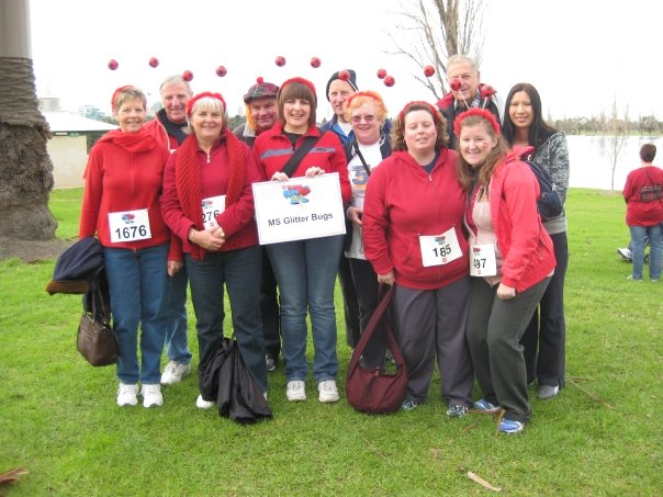 2009 was my second year after MS Diagnosis and we walked with an official team called MS Glitter Bugs. I was also interviewed by our local paper to raise awareness